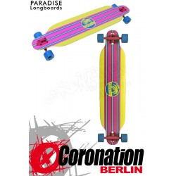 Paradise Longboard Yellow Stripe Drop Thru 107cm