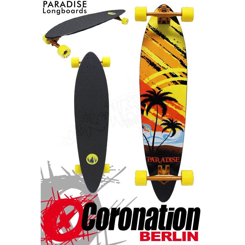 Paradise Longboard Sunset Sketch Pintail 95cm Cruiser