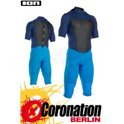 ION Strike Element Overknee SS 3/2 BZ DL Neoprenanzug navyblue/bright blue