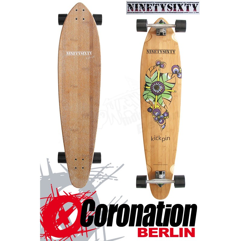 Ninetysixty Kickpin 2014 Cruiser Longboard 109cm complète