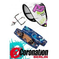 Kitesurf Set Takoon Reflex 12m² Kite +barre+ JN Bouddok Kiteboard