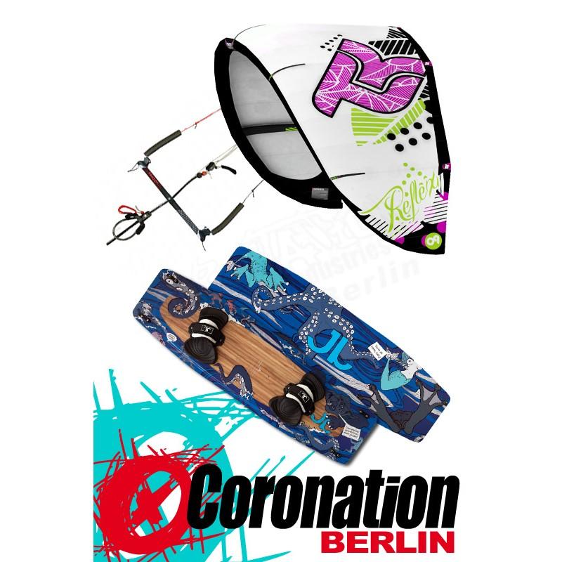 Kitesurf Set Takoon Reflex 12m² Kite +barrere+ JN Bouddok Kiteboard