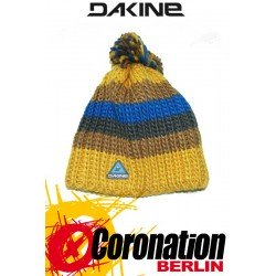 Dakine Gordon Beanie Strick Mütze Gold mit Bommel