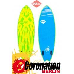 Softech MASON TWIN Surf Softboard lime/yellow
