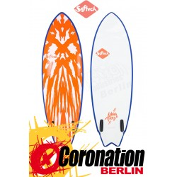 Softech MASON TWIN Surf Softboard neon red/white