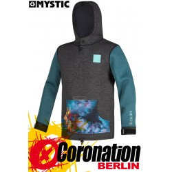 Mystic VOLTAGE SWEAT 2019 Neo Hoodie teal