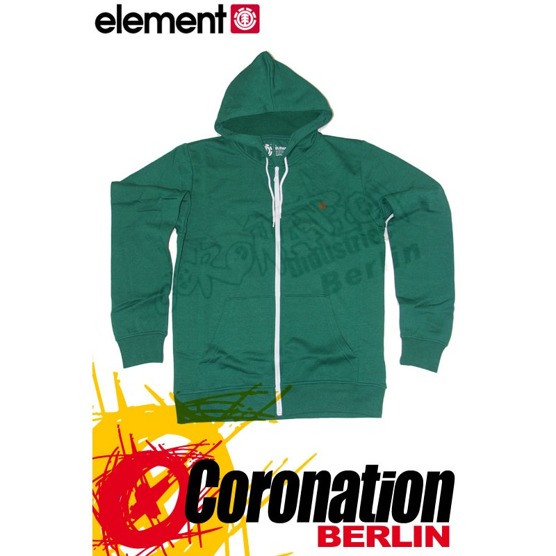 Element Smith Zip Hoodie vert Flash