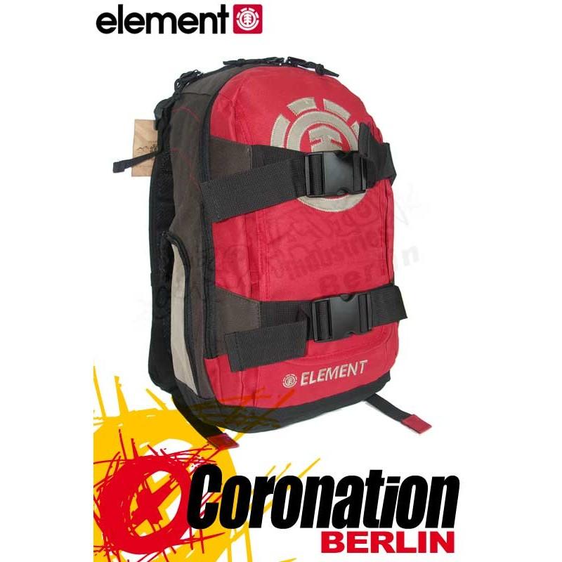Element Mohave Small Skate Rucksack Schul & Freizeit Backpack Brown (Dark Red)