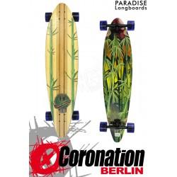 Paradise Longboard Rasta Bamboo Pintail 41 Cruiser complèteboard