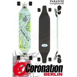 "Paradise Longboard Nautical Map DropDown 40"" completeboard"