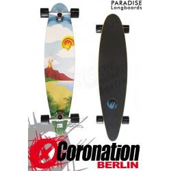 "Paradise Longboard Poster 40"" Pintail Cruiser Komplettboard"
