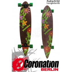 """Paradise Longboard Flowers 43"""" Pintail Cruiser complèteboard"""
