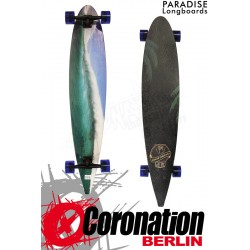 """Paradise Longboard Blue Wave 48"""" Pintail Cruiser complèteboard"""