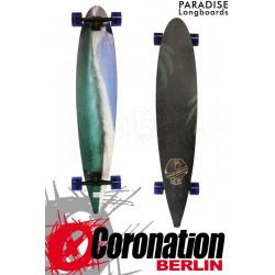 "Paradise Longboard Blue Wave 48"" Pintail Cruiser Komplettboard"