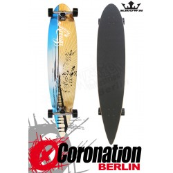 Krown Longboard Komplett Sunset Pier Pintail Cruiser 43""