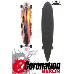 Krown Longboard Komplett Sunset City Surf Pintail Cruiser 43""