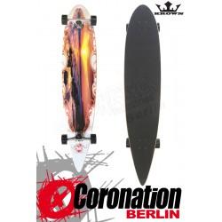 "Krown Longboard Komplett Sunset City Surf Pintail Cruiser 43"""