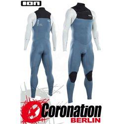 ION SEEK CORE SEMIDRY 3/2 FZ DL 2021 combinaison neoprène steel blue/white/black