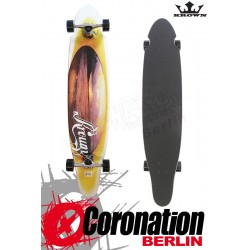 Krown Longboard complete Orange Sunset Kicktail Cruiser 41,5""