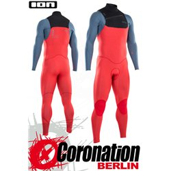 ION SEEK CORE SEMIDRY 5/4 FZ DL 2021 combinaison neoprène red/steel blue/black