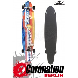Krown Longboard Komplett Disco Sunset Kicktail Cruiser 41,5""