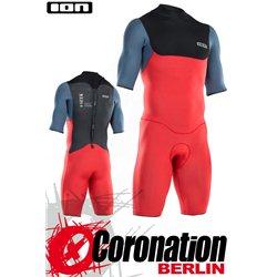 ION SEEK CORE SHORTY SS 2/2 BZ DL 2021 combinaison neoprène red/steel blue/black