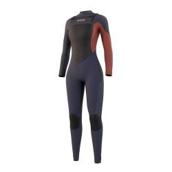Mystic DIVA fullsuit 3/2MM DOUBLE FZIP 2021 neopren suit night blue