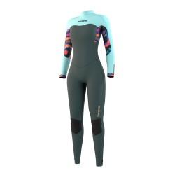 Mystic DAZZLED fullsuit 5/3MM BZIP 2021 neopren suit dark leaf