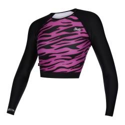 Mystic Diva LS Crop Tee Rashvest 2021 Black/Pink