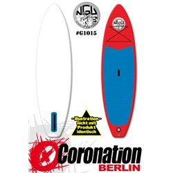 NGU Inflatable SUP Allrounder 10'6x32''x4,75'' Standup Paddle Board - red