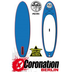 NGU Inflatable SUP Allrounder 10'6x32''x4,75'' Standup Paddle Board - blue