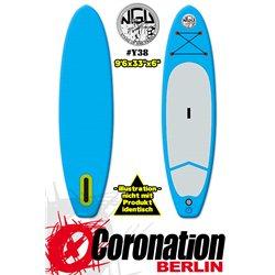 NGU Inflatable SUP Allrounder 10'6x32''x6'' Standup Paddle Board - Rasta