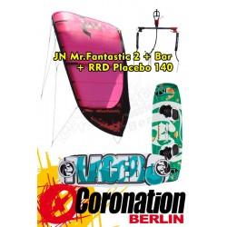 Kite Set complète: JN Mr. Fantastic 2 10m²+barrere+ RRD Placebo 140
