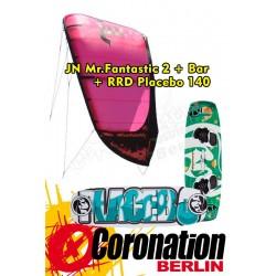 Kite Set Komplett: JN Mr. Fantastic 2 12m²+Bar+ RRD Placebo 140
