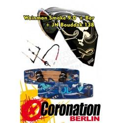 Kite Set complète: Wainman Smoke 9m² + barre + JN Bouddok 138