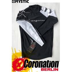 Mystic CROSSFIRE Lycra Vest L/S Black/White