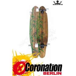 Krown Longboard Komplett Exotic Kicktail Bamboo Cruiser