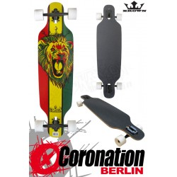 "Krown Longboard Komplett Rasta 36"" Drop Through"