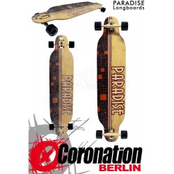 Paradise Longboard Squares Bamboo complèteboard
