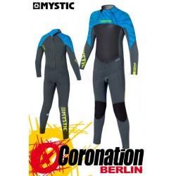 Mystic Star Neopren Fullsuit back-zip (5/4) Junior Blue-Zebra