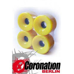 Longboard roulettes 76mm 78a - Gelb