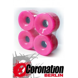 Longboard roulettes 76mm 78a - rose