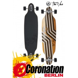 The Wave Reverso 39 DT Orange complete Longboard