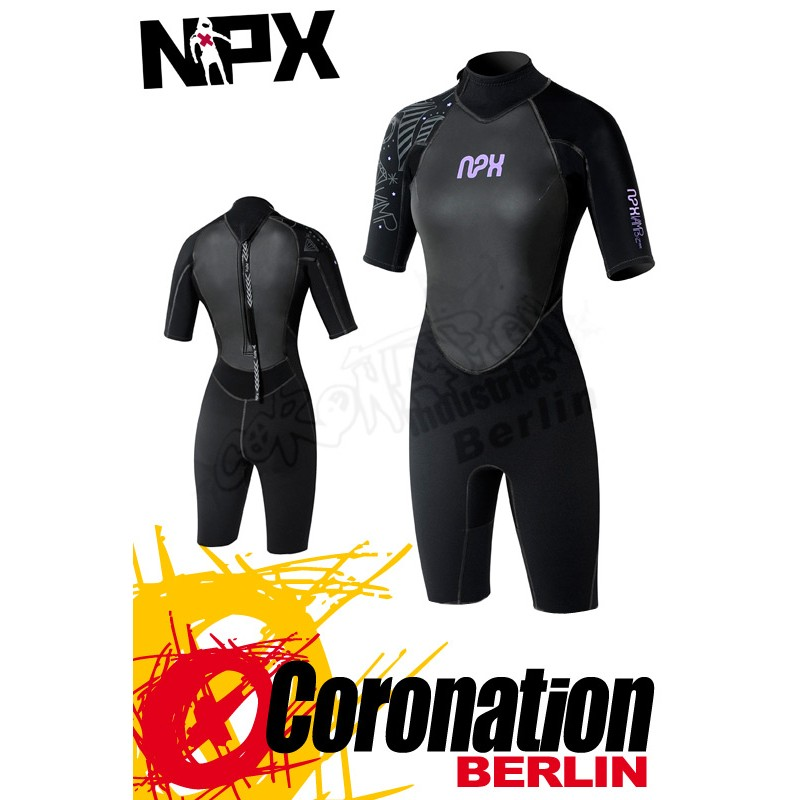 NPX Vamp Shorty 2/2 FL Lady neopren suit Black/Violett