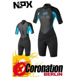 NPX Vamp Shorty 2/2 FL Lady combinaison neoprène Black/turquis