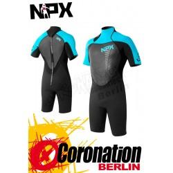 NPX Cult 2/2 Shorty combinaison neoprène Black/Aqua
