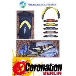 Cabrinha CO2 6,5m² second hand Kite complete with bar - Grau/blue