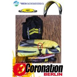 Cabrinha CO2 14m² gebraucht Kite komplett mit Bar - Gelb/Weiß