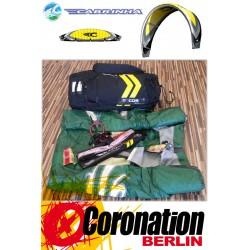 Cabrinha CO2 10m² gebraucht Kite komplett mit Bar - Grün/Weiß