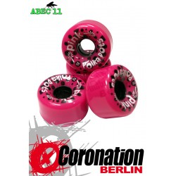 ABEC11 wheels Pink Polkadots wheels 62mm 78a